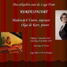 Kerstconcert, met Hadewijch Voorn, sopraan