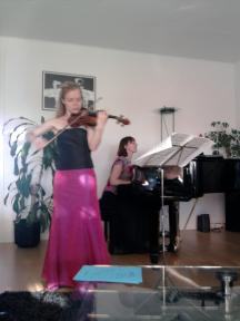Huisconcert met Xandrine Bossers, viool