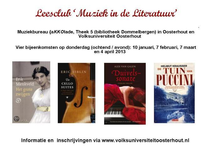 Leesclub Muziek in de literatuur-Oosterhout