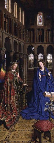 Annunciation-Jan van Eyck, 1434 (NGWashDC)