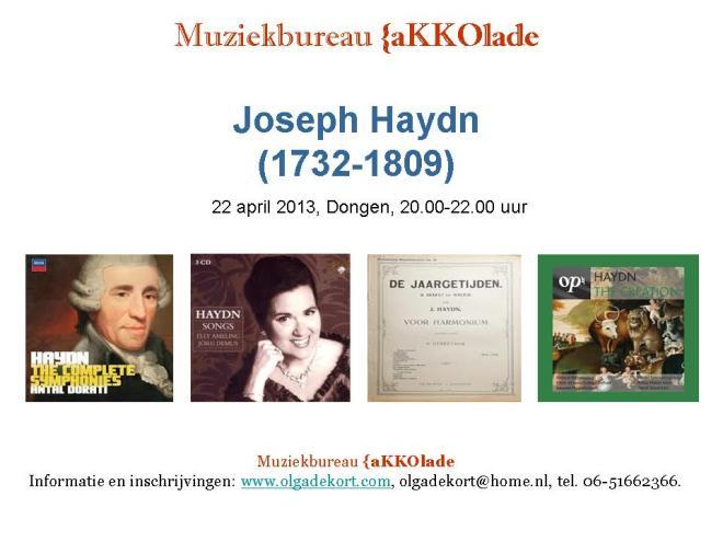 Die Jahreszeiten. Haydn, 22.04.2013-Akkolade
