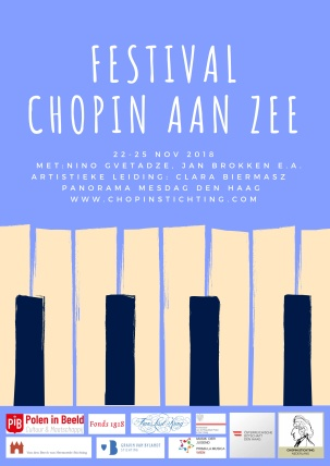Poster Chopin aan Zee